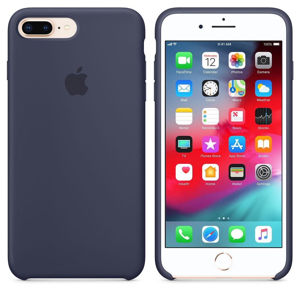 Capa Silicone para iPhone 7 Plus e iPhone 8 Plus - 1