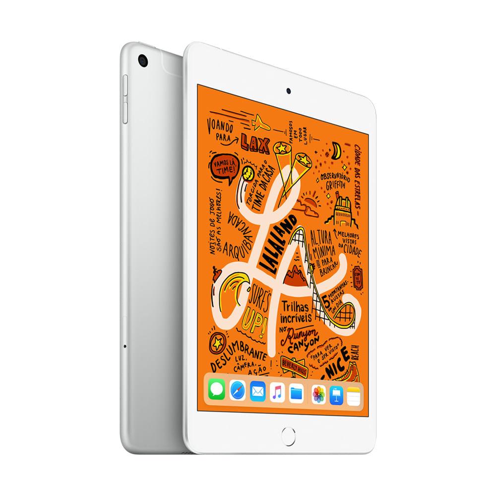"""iPad Mini Apple 4G 64GB Prata 7,9"""" Retina - Proc. Chip A12 Câm. 8MP + Frontal 7MP iOS 12 - 0"""