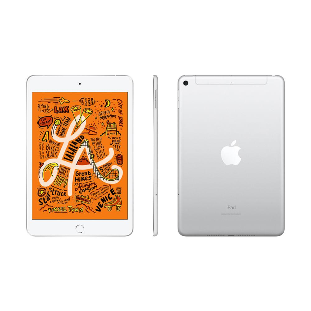 """iPad Mini Apple 4G 64GB Prata 7,9"""" Retina - Proc. Chip A12 Câm. 8MP + Frontal 7MP iOS 12 - 1"""
