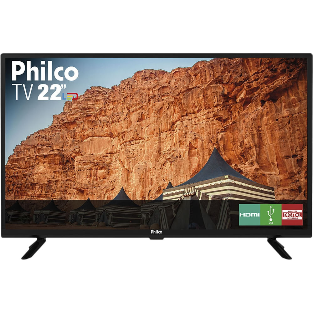 "TV LED 22"" Philco PTV22G50D - 2 HDMI 1 USB - Bivolt"