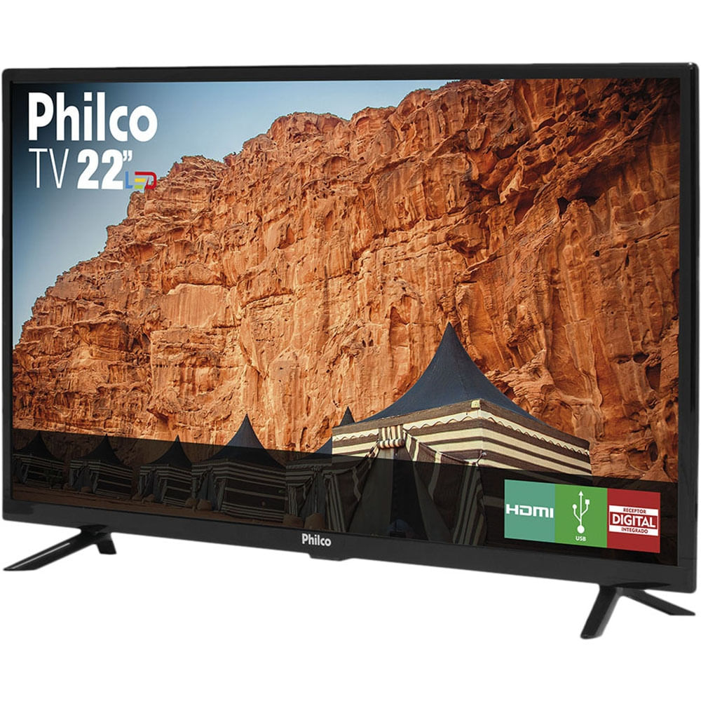 "TV LED 22"" Philco PTV22G50D - 2 HDMI 1 USB - Bivolt - 1"