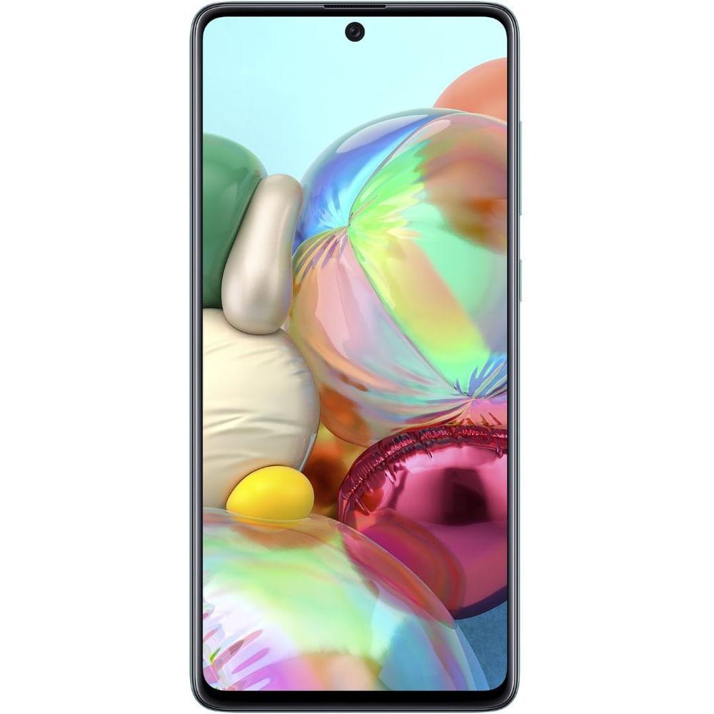 """Smartphone Samsung Galaxy A71 Azul 128GB, Tela Infinita de 6.7"""", Câmera Traseira Quádrupla, Leitor Digital na Tela, 6GB RAM e Processador Octa-Core - 1"""