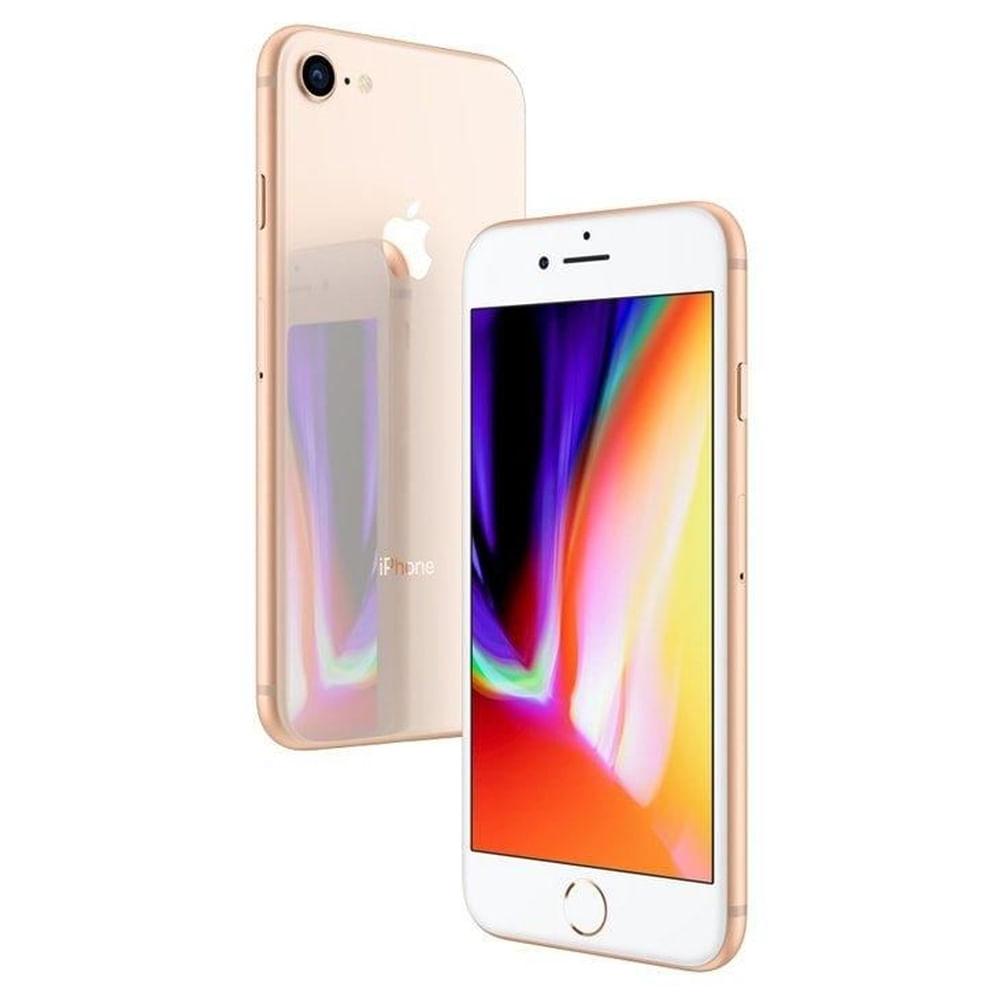 """iPhone 8 Apple com 128GB, Tela Retina HD de 4,7"""", iOS 11, Câmera de 12 MP, Resistente à Água, Wi-Fi, 4G LTE e NFC - Dourado"""