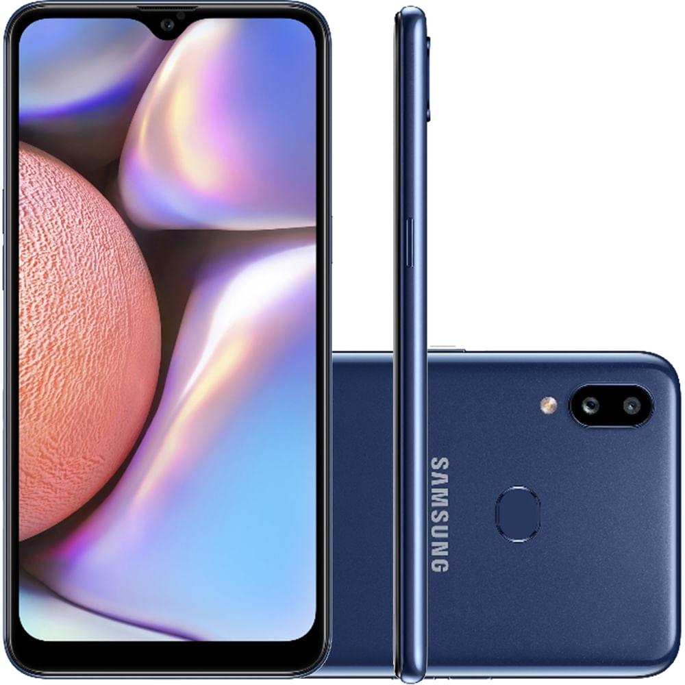 "Smartphone Samsung Galaxy A10s Azul 32GB, Câmera Dupla Traseira, Selfie de 8MP, Tela Infinita de 6.2"", Leitor de Digital, Octa Core e Android 9.0"