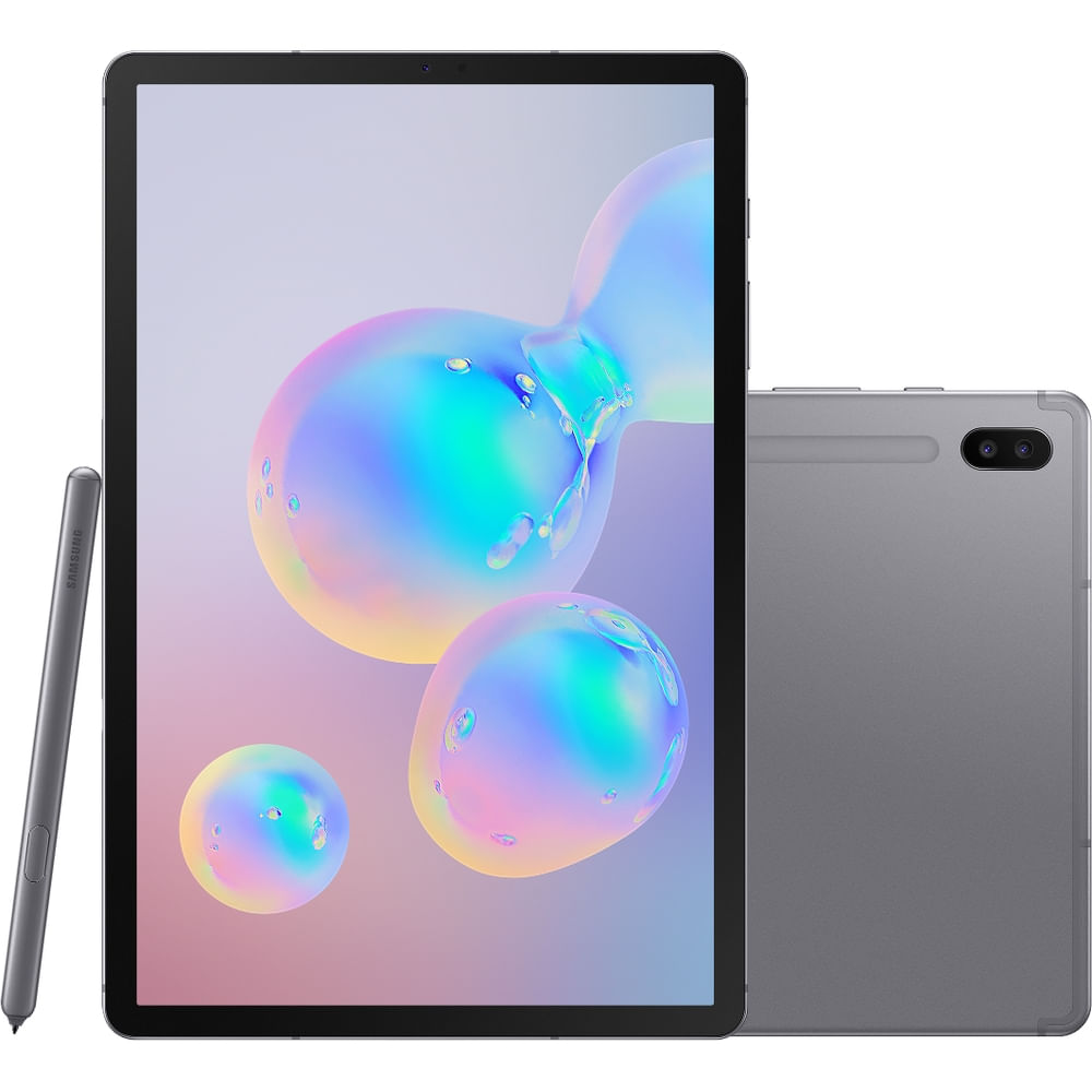 "Tablet Samsung Galaxy Tab S6 128GB 10,5"" Wi-Fi - Android 9.0 Câm. Dupla + Selfie 8MP - Bivolt - 0"