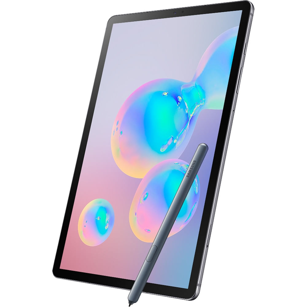 "Tablet Samsung Galaxy Tab S6 128GB 10,5"" Wi-Fi - Android 9.0 Câm. Dupla + Selfie 8MP - Bivolt - 1"