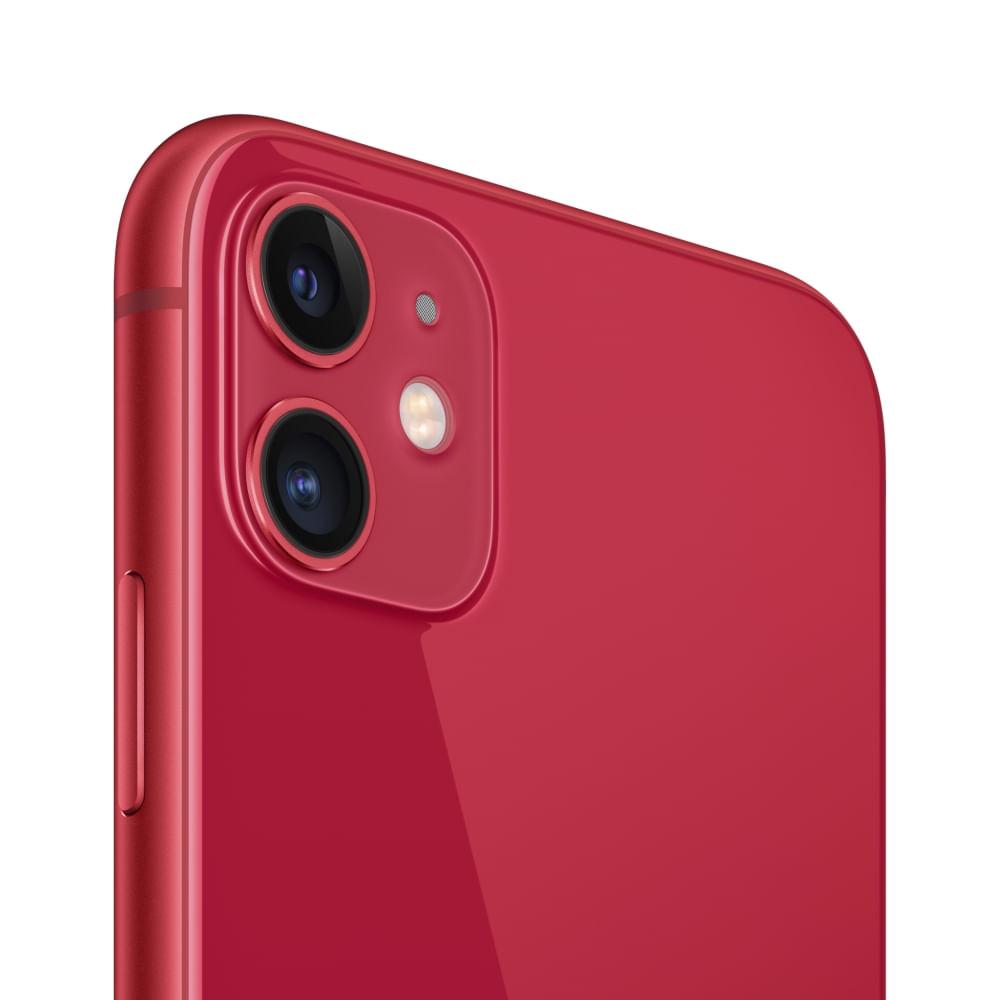 """iPhone 11 Apple com 256GB, Tela Retina HD de 6,1"""", iOS 13, Dupla Câmera Traseira de 12 MP, Resistente à Água e Bateria de Longa Duração -Vermelho - 3"""