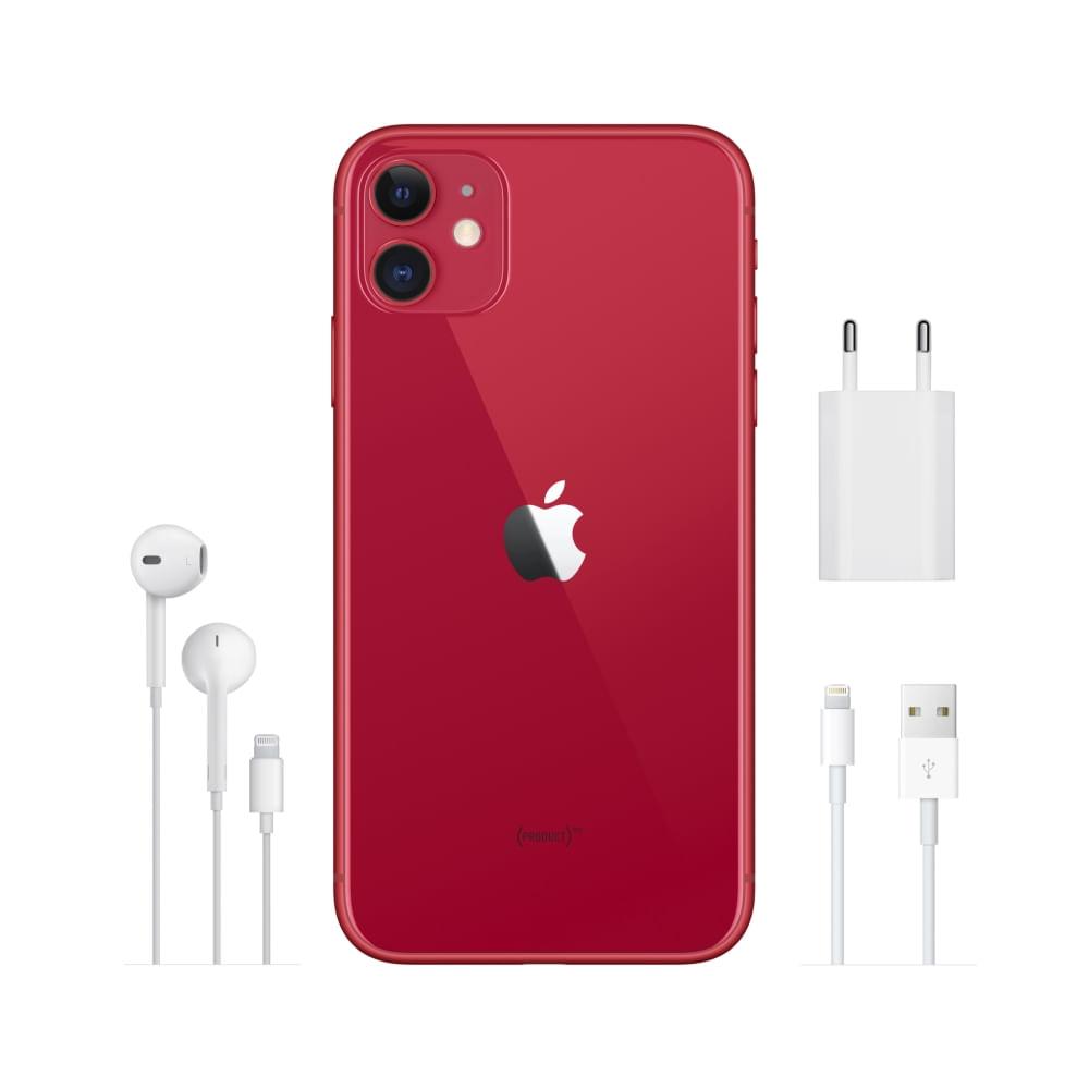 """iPhone 11 Apple com 256GB, Tela Retina HD de 6,1"""", iOS 13, Dupla Câmera Traseira de 12 MP, Resistente à Água e Bateria de Longa Duração -Vermelho - 5"""