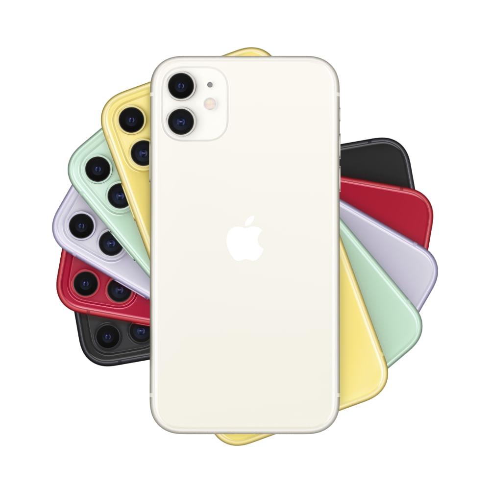 """iPhone 11 Apple com 256GB, Tela Retina HD de 6,1"""", iOS 13, Dupla Câmera Traseira de 12 MP, Resistente à Água e Bateria de Longa Duração -Branco - 1"""