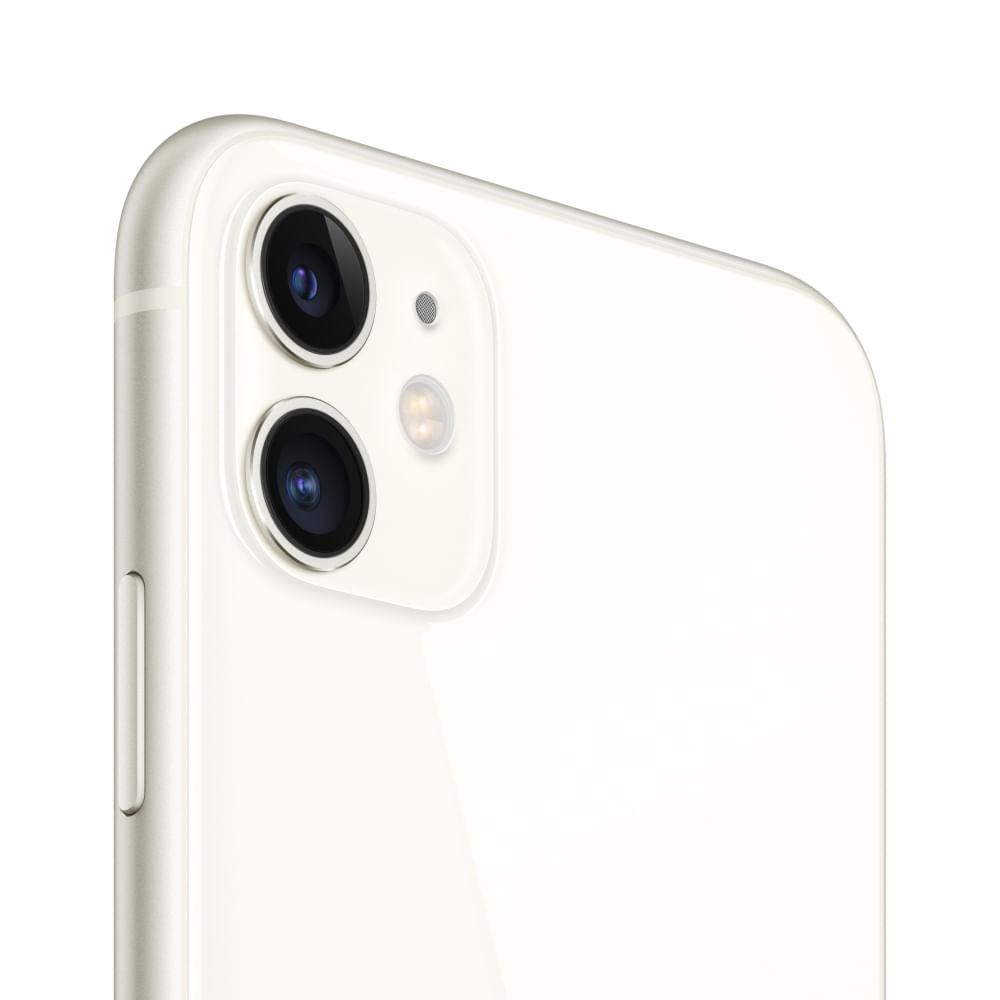 """iPhone 11 Apple com 256GB, Tela Retina HD de 6,1"""", iOS 13, Dupla Câmera Traseira de 12 MP, Resistente à Água e Bateria de Longa Duração -Branco - 3"""