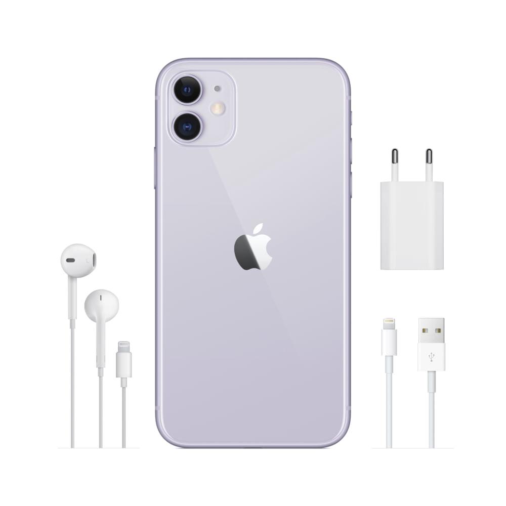"""iPhone 11 Apple com 256GB, Tela Retina HD de 6,1"""", iOS 13, Dupla Câmera Traseira de 12 MP, Resistente à Água e Bateria de Longa Duração -Verde"""