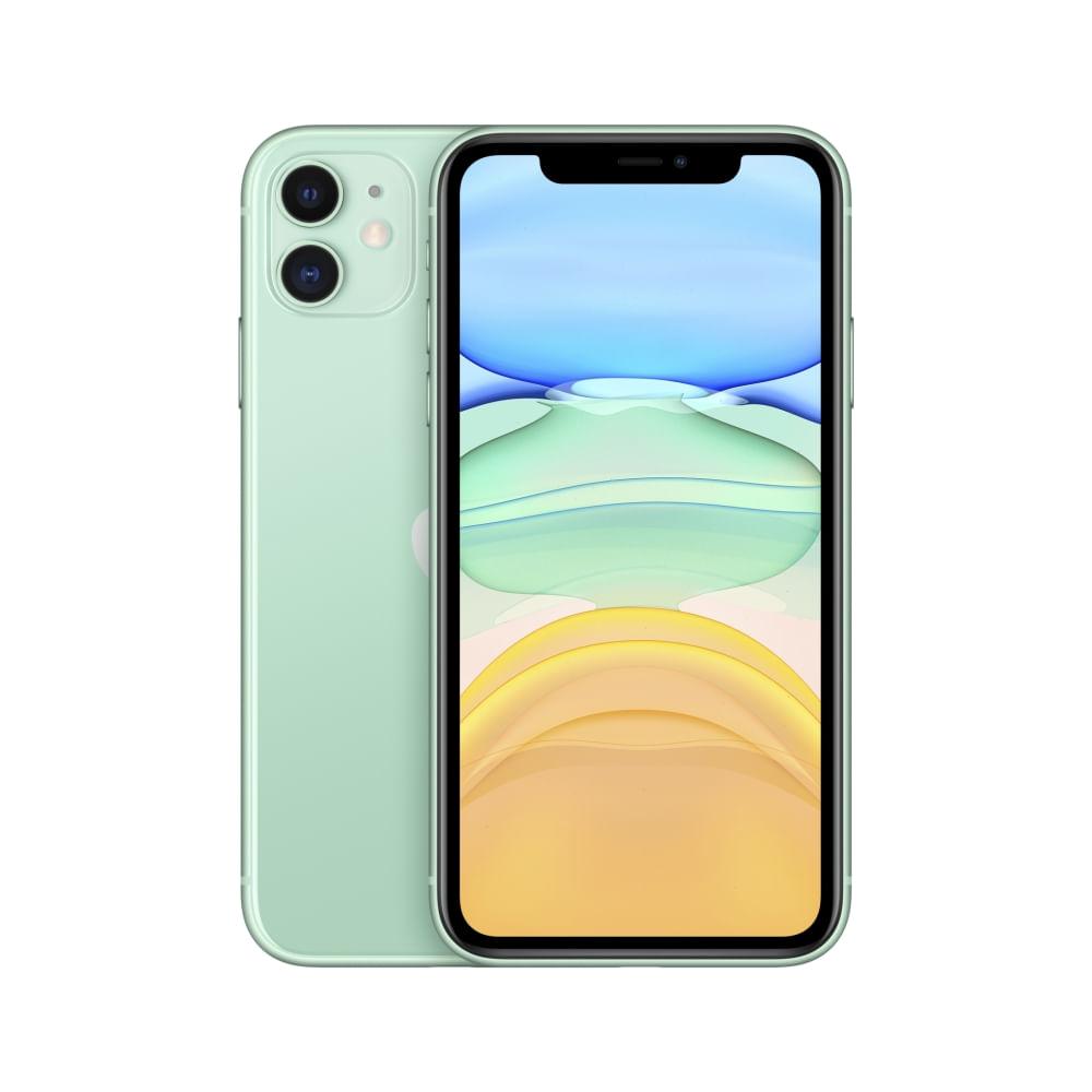 """iPhone 11 Apple com 256GB, Tela Retina HD de 6,1"""", iOS 13, Dupla Câmera Traseira de 12 MP, Resistente à Água e Bateria de Longa Duração -Verde - 1"""