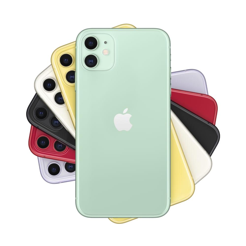 """iPhone 11 Apple com 256GB, Tela Retina HD de 6,1"""", iOS 13, Dupla Câmera Traseira de 12 MP, Resistente à Água e Bateria de Longa Duração -Verde - 2"""
