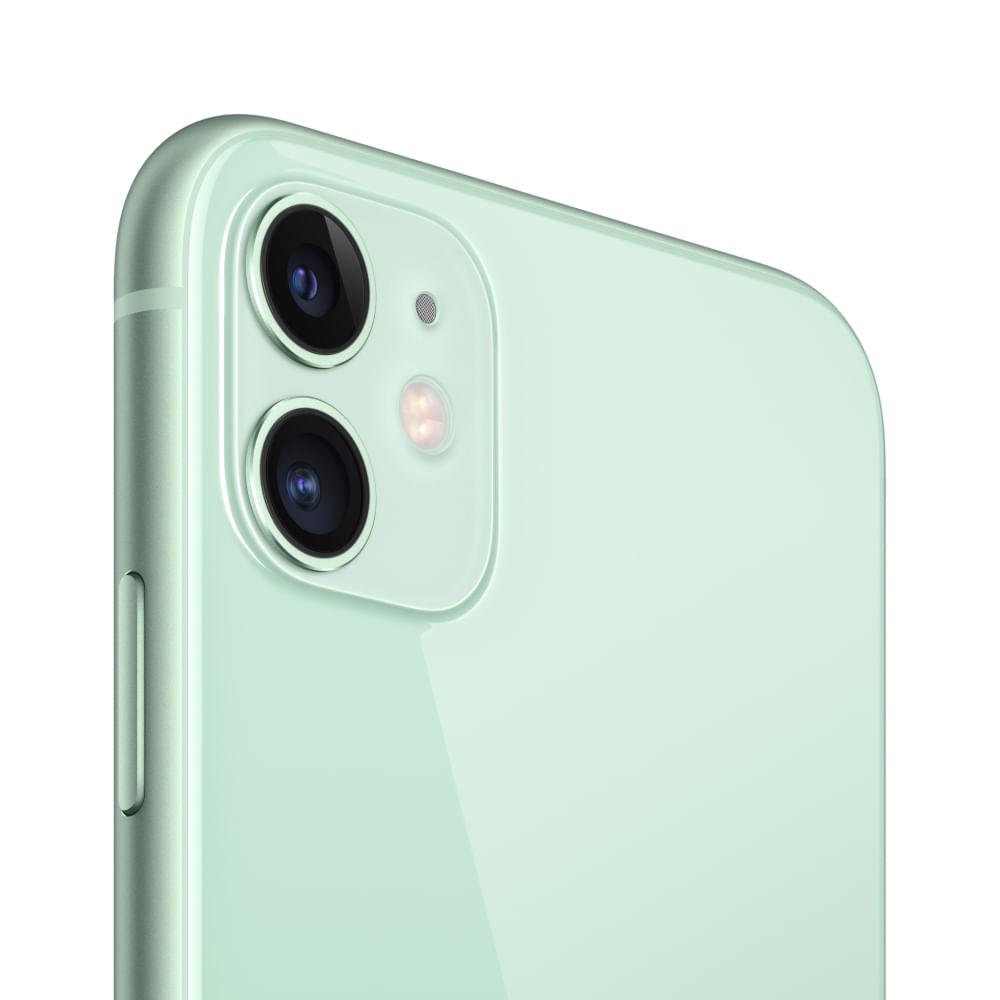 """iPhone 11 Apple com 256GB, Tela Retina HD de 6,1"""", iOS 13, Dupla Câmera Traseira de 12 MP, Resistente à Água e Bateria de Longa Duração -Verde - 4"""