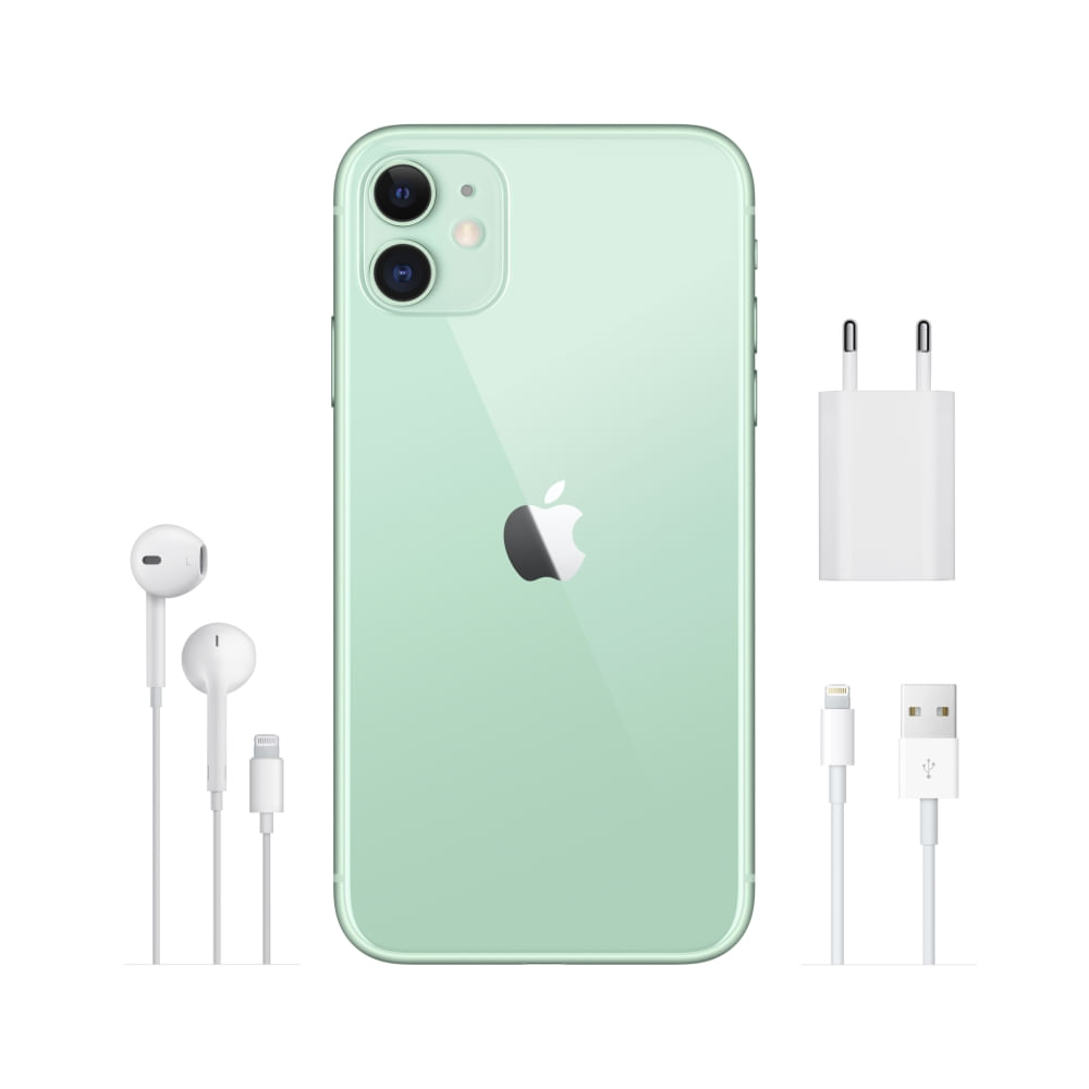 """iPhone 11 Apple com 256GB, Tela Retina HD de 6,1"""", iOS 13, Dupla Câmera Traseira de 12 MP, Resistente à Água e Bateria de Longa Duração -Verde - 6"""
