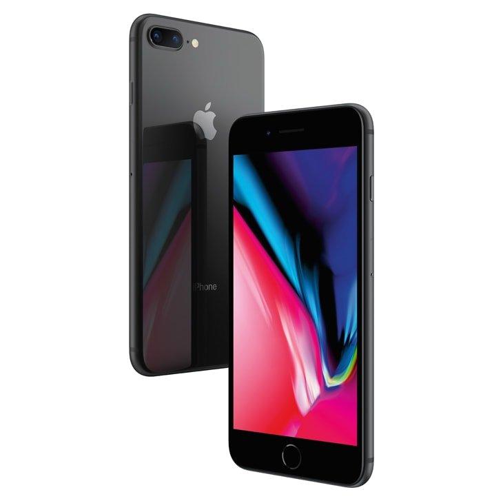 """iPhone 8 Apple Plus com 64GB, Tela Retina HD de 5,5"""", iOS 12, Dupla Câmera Traseira, Resistente à Água, Wi-Fi, 4G LTE e NFC – Cinza-Espacial - 1"""
