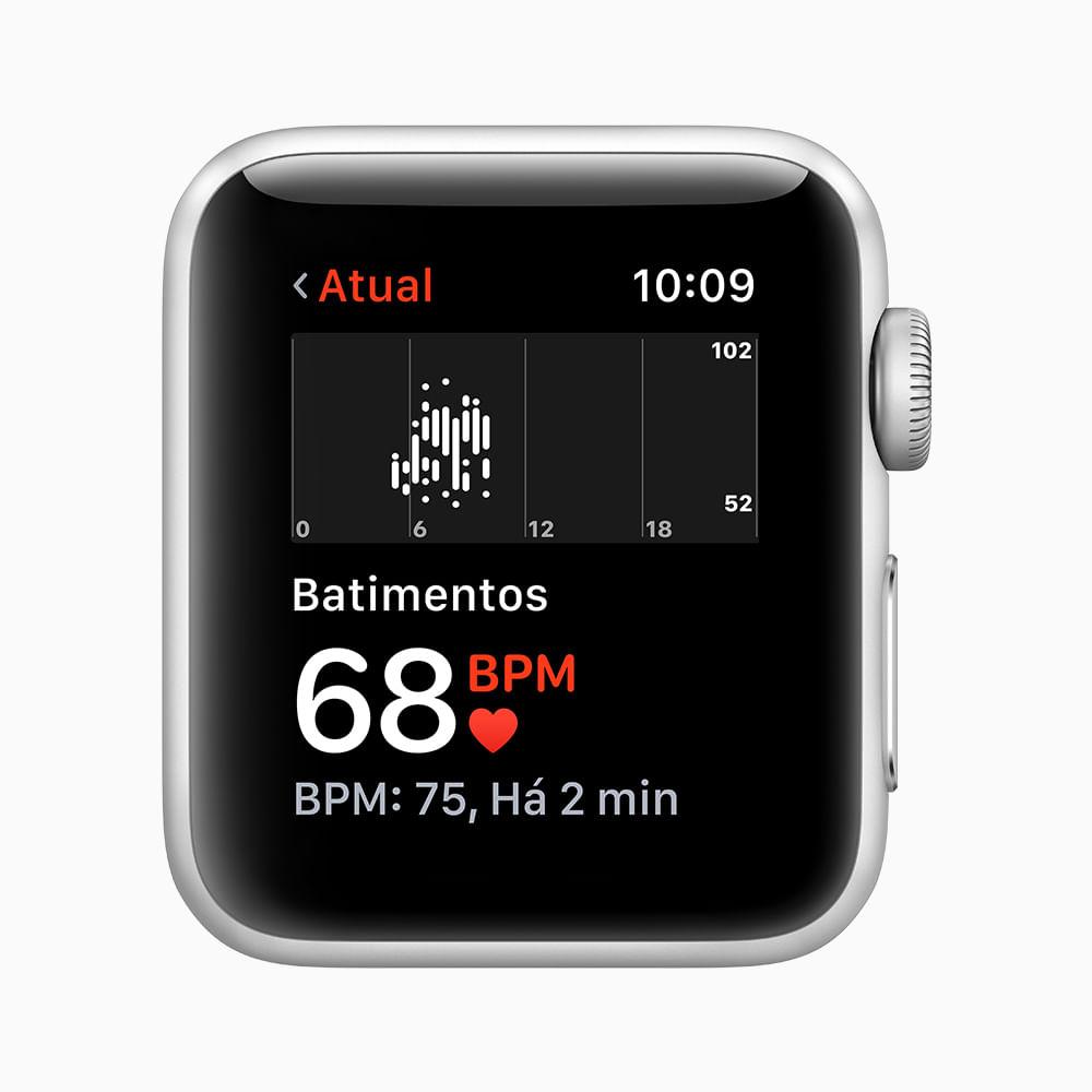Apple Watch Series 3 GPS - 42mm - Caixa cinza-espacial de alumínio com pulseira esportiva preta - 4