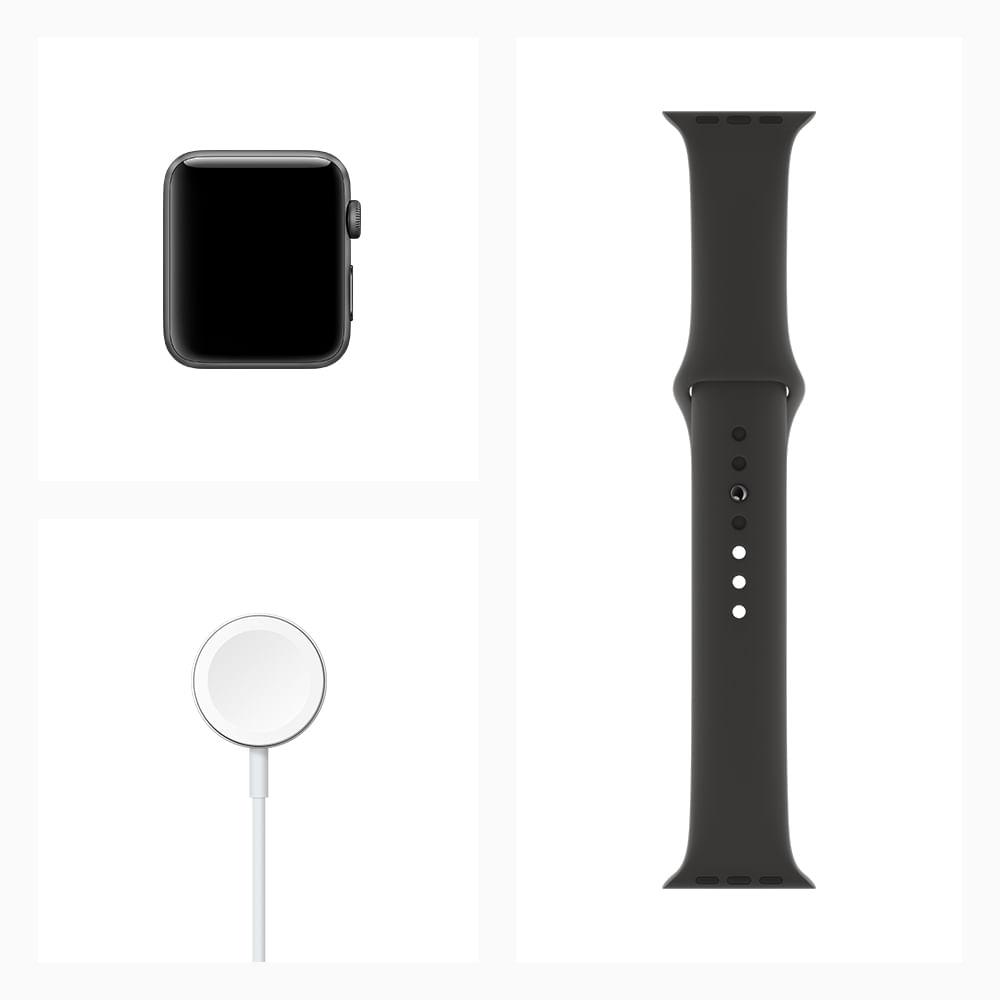 Apple Watch Series 3 GPS - 42mm - Caixa cinza-espacial de alumínio com pulseira esportiva preta - 5