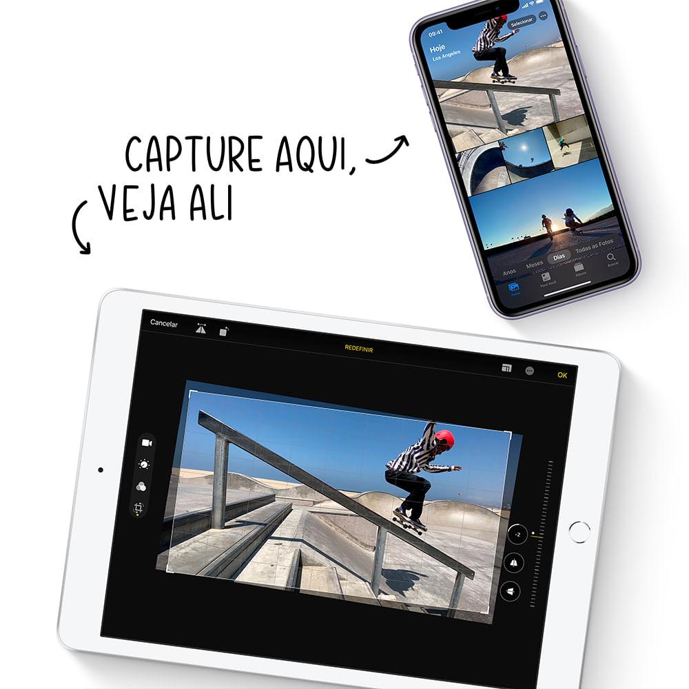 iPad 10,2'' 8ª geração Wi-Fi 32GB - Prateado - 5
