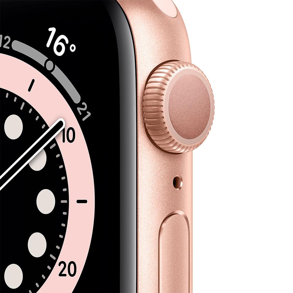 Apple Watch Series 6 (GPS) 40mm caixa dourada de alumínio com pulseira esportiva areia-rosa - 1