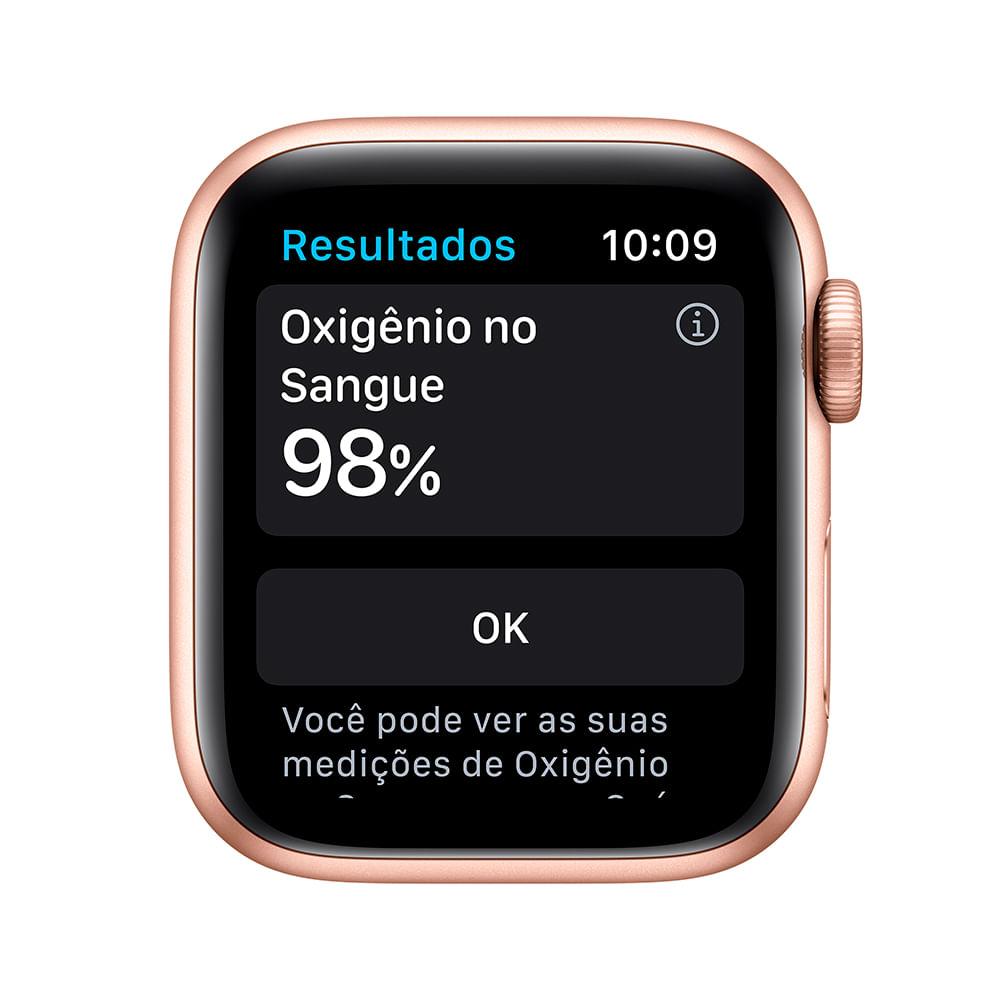 Apple Watch Series 6 (GPS) 40mm caixa dourada de alumínio com pulseira esportiva areia-rosa - 2