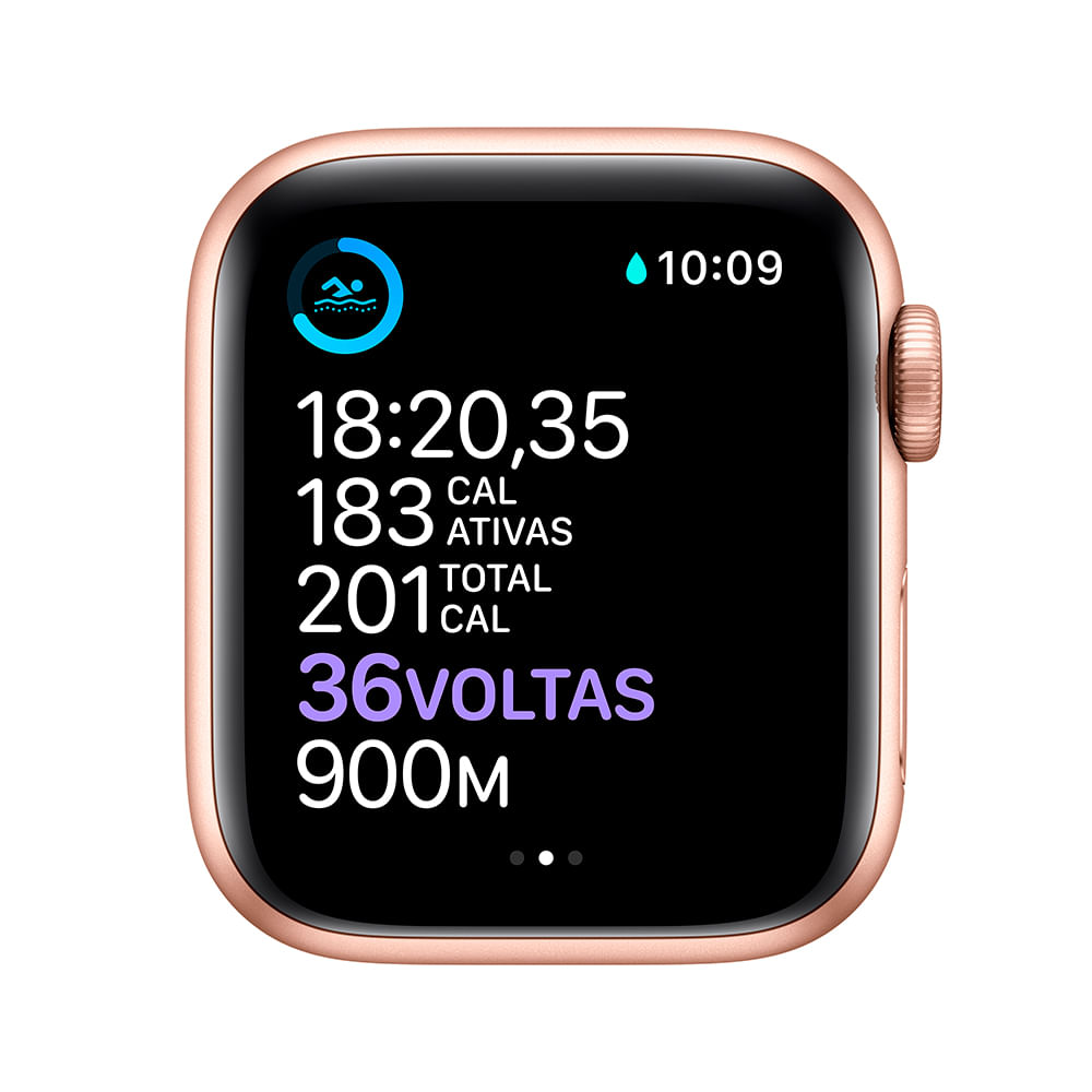Apple Watch Series 6 (GPS) 40mm caixa dourada de alumínio com pulseira esportiva areia-rosa - 3