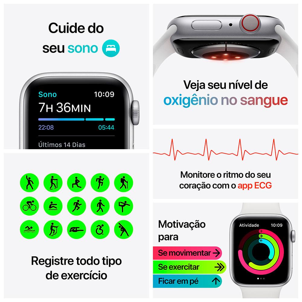 Apple Watch Series 6 (GPS) 40mm caixa dourada de alumínio com pulseira esportiva areia-rosa - 5