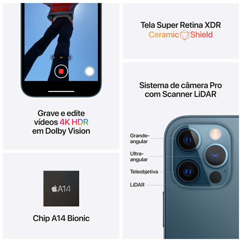 iPhone 12 Pro Max 128GB - Azul-Pacífico - 5