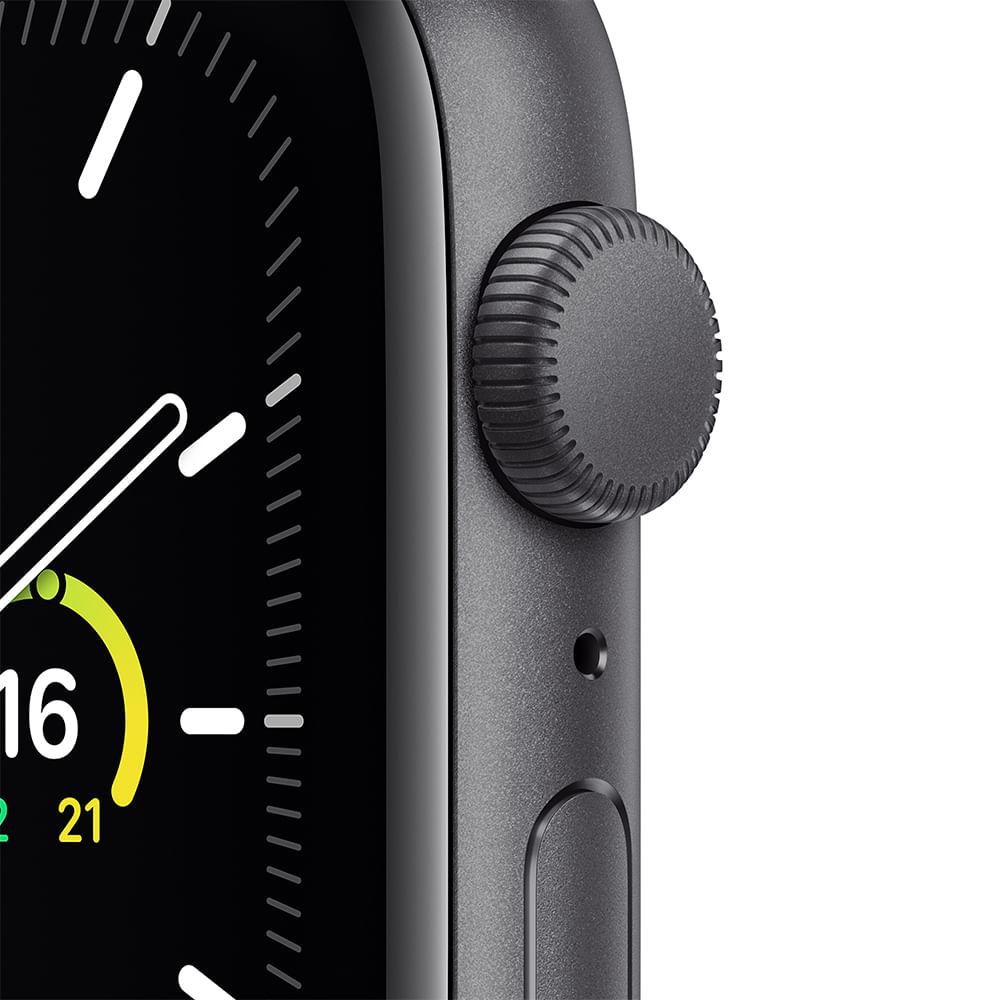 Apple Watch SE 44mm GPS - Caixa cinza-espacial e pulseira esportiva preto - 1