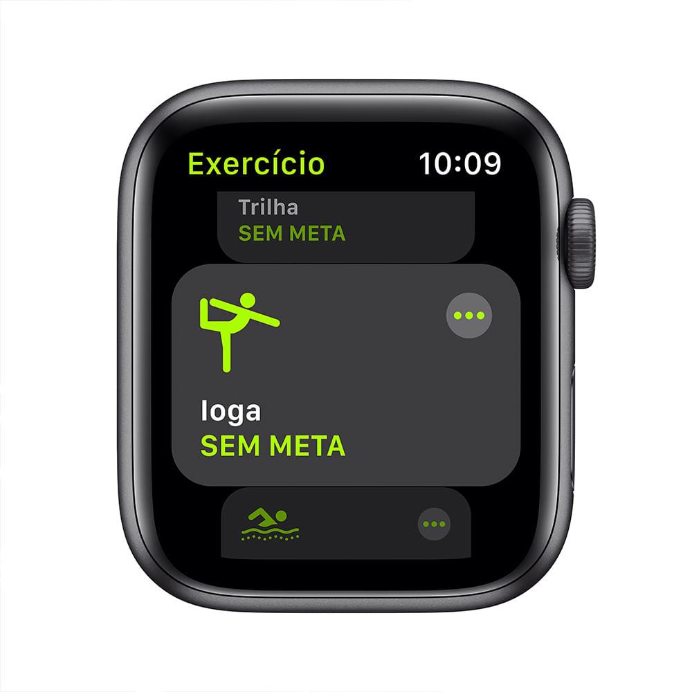 Apple Watch SE 44mm GPS - Caixa cinza-espacial e pulseira esportiva preto - 2