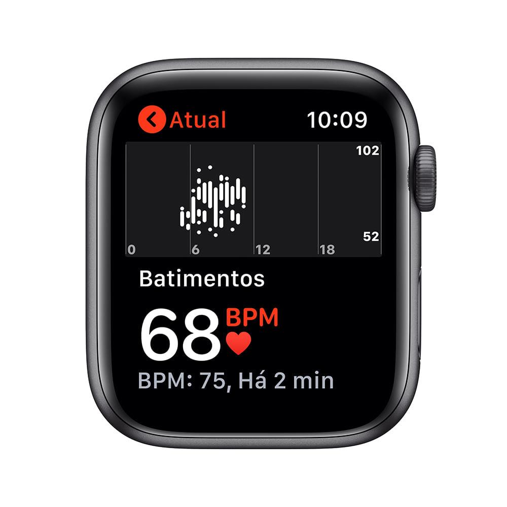 Apple Watch SE 44mm GPS - Caixa cinza-espacial e pulseira esportiva preto - 3