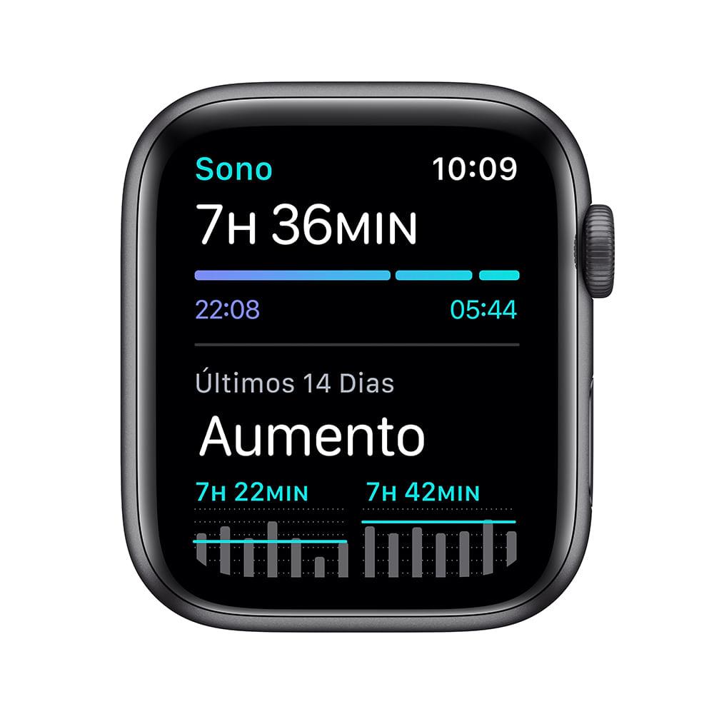 Apple Watch SE 44mm GPS - Caixa cinza-espacial e pulseira esportiva preto - 4