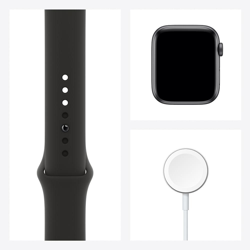 Apple Watch SE 44mm GPS - Caixa cinza-espacial e pulseira esportiva preto - 7